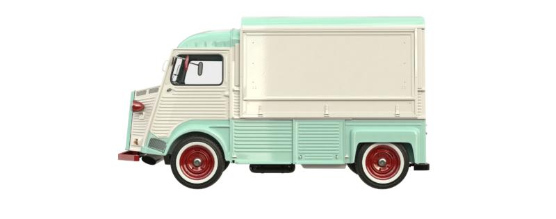 Vieille camionnette, photo pour Allo Vidange. Un projet réalisé par le Studio DPE