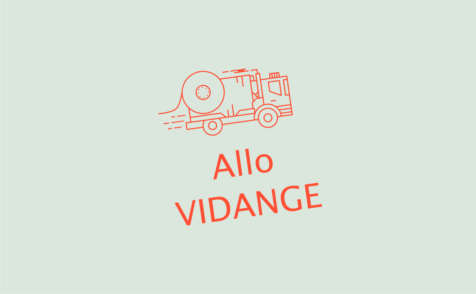 Logo d'Allo Vidange, réalisé par le Studio DPE
