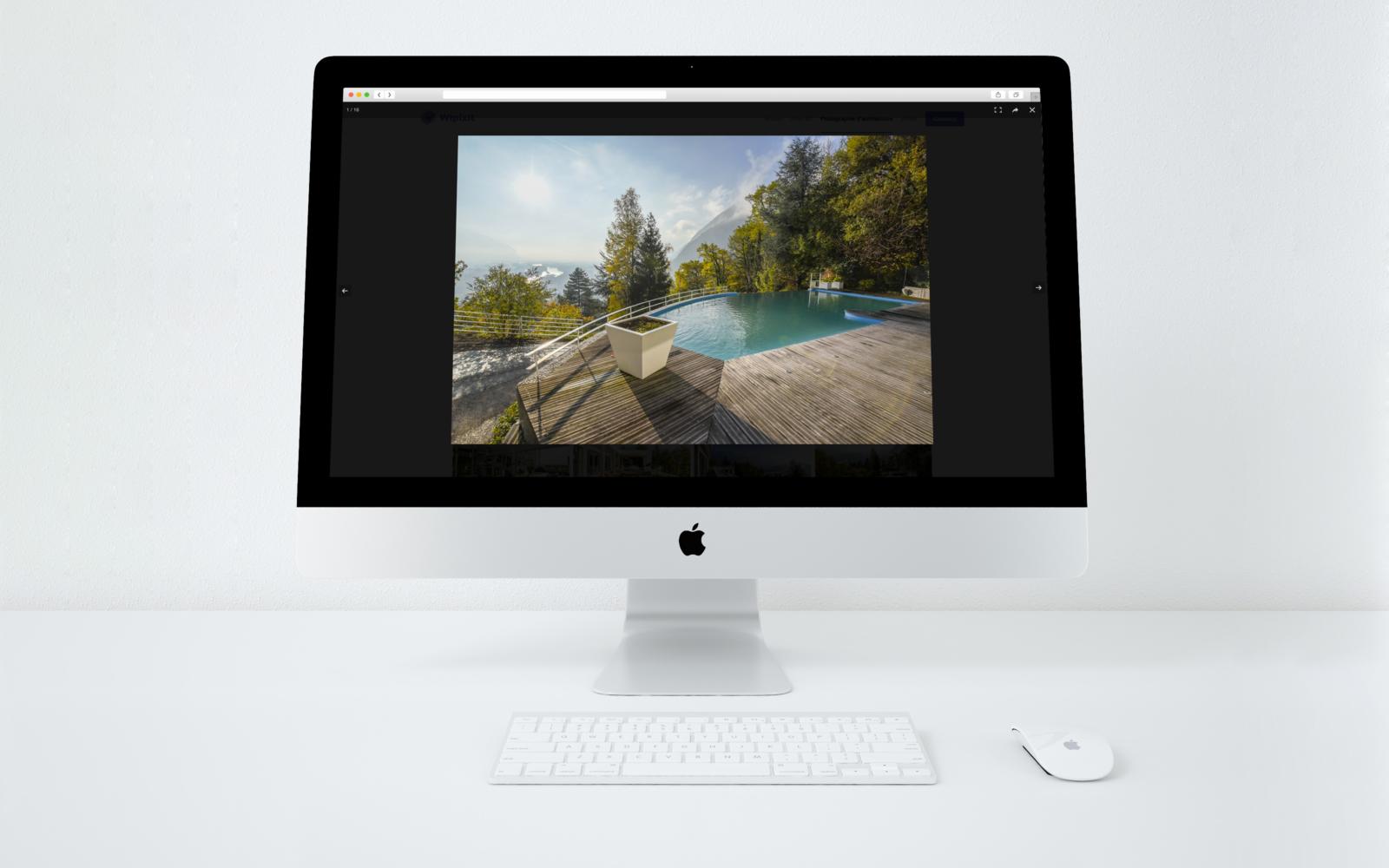 Visualisation des photos du site de Wipixit sur ordinateur