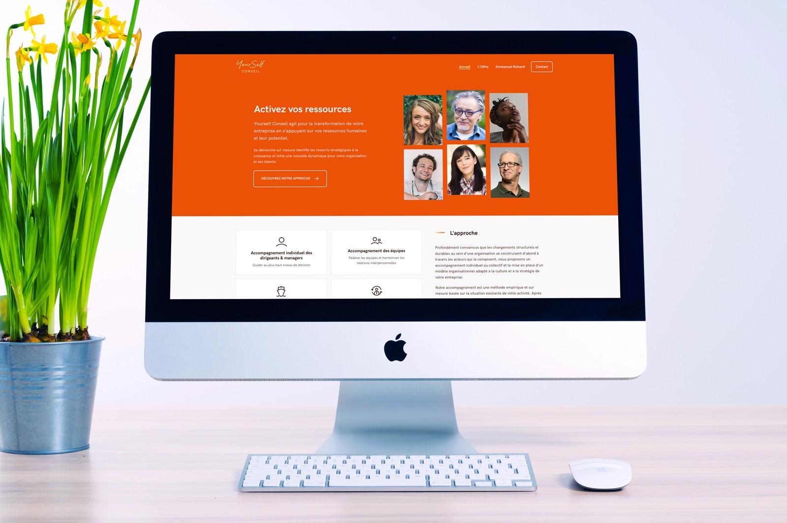 Page d'accueil du site web de YourSelf Conseil