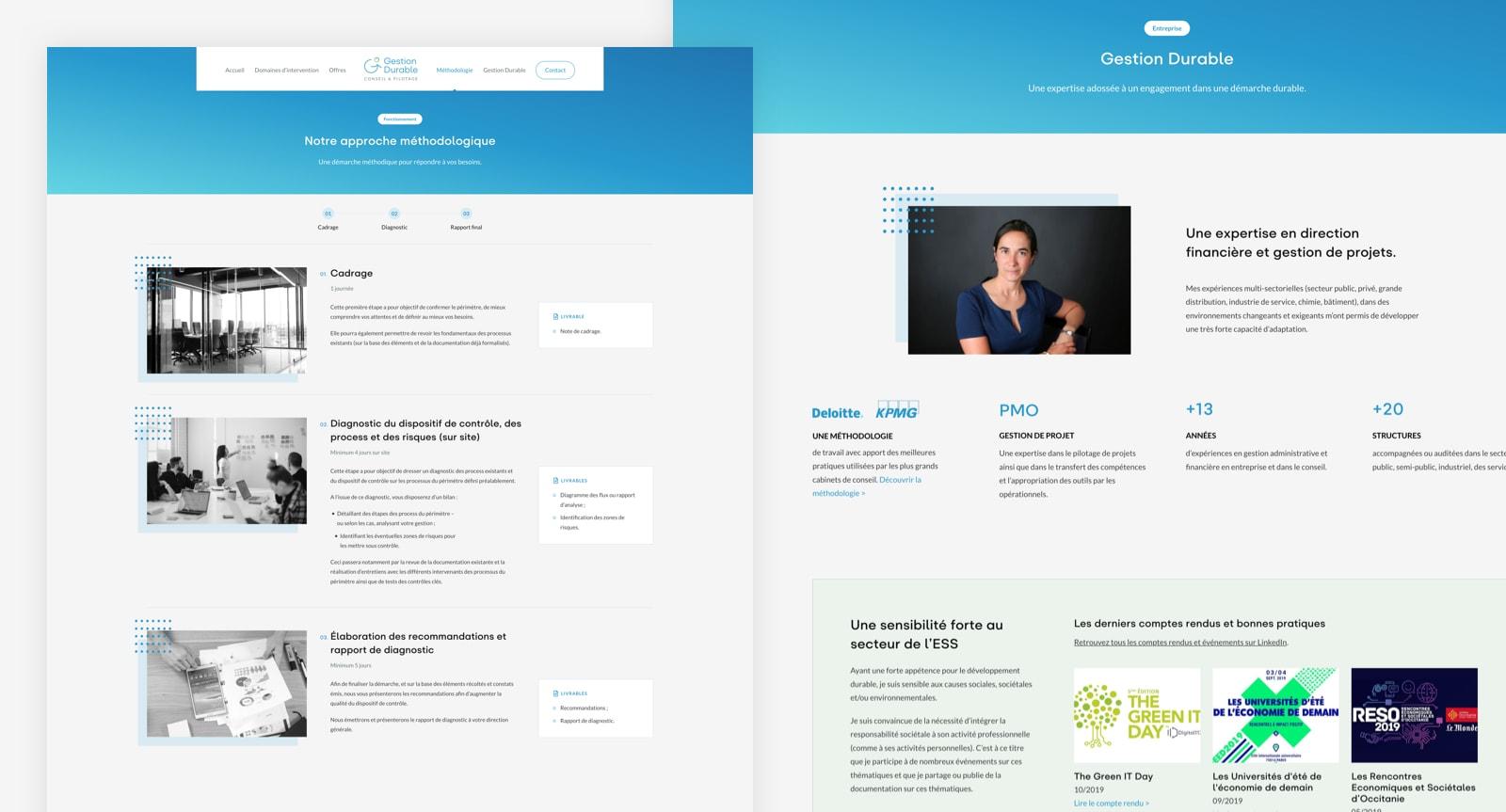 Page de méthodologie sur le site internet de Gestion Durable